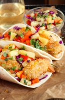 Coconut Shrimp Tacos + Pineapple Slaw