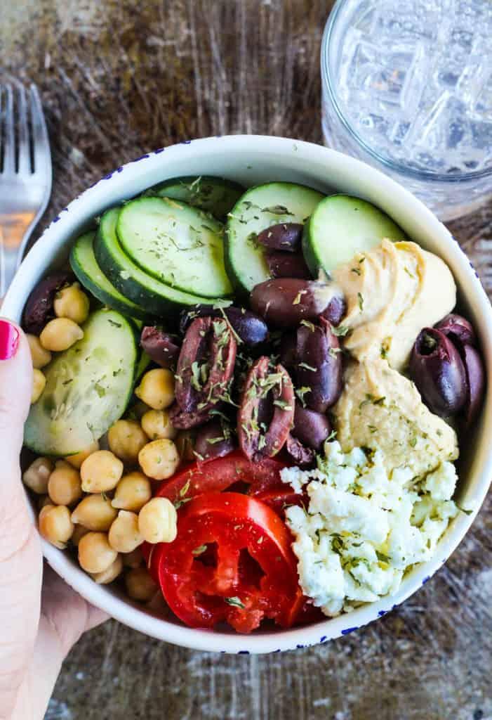 Mediterranean Hummus Bowl