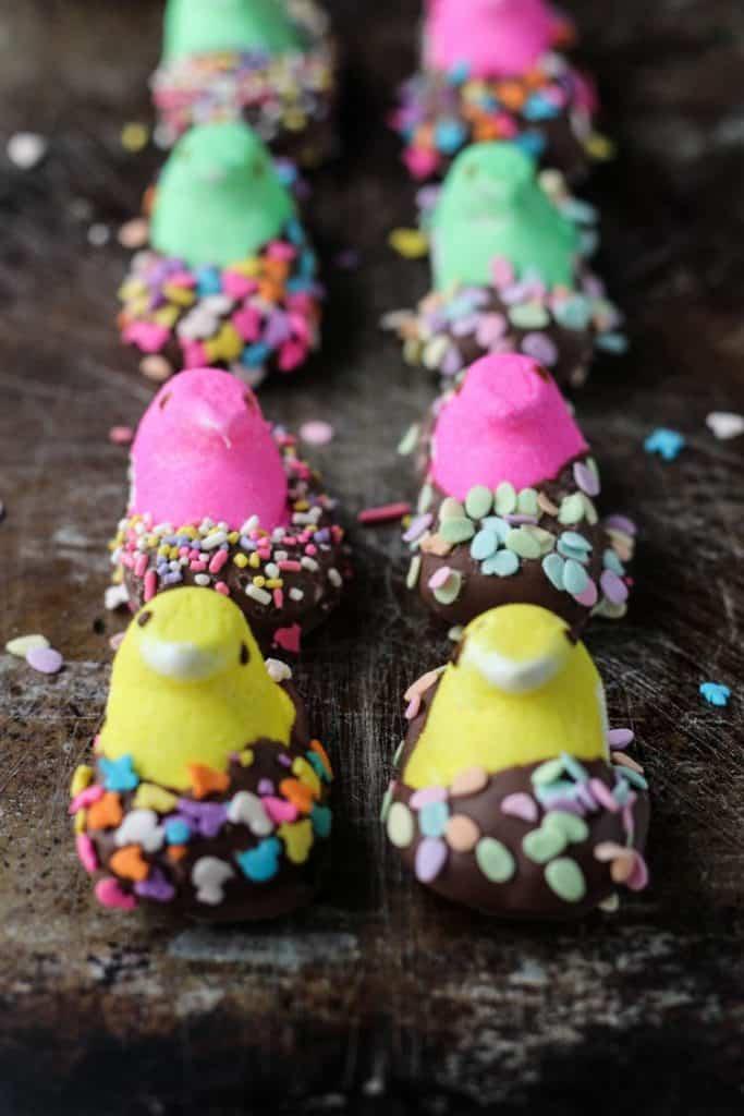 Peep No-Bake Mini Cheesecakes