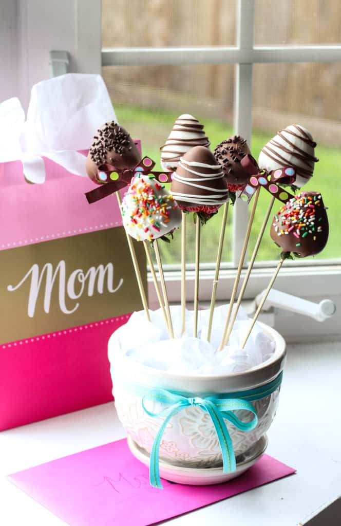 chocolate covered strawberries bouquet instructions