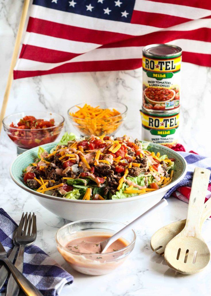 Easy Cheeseburger Salad
