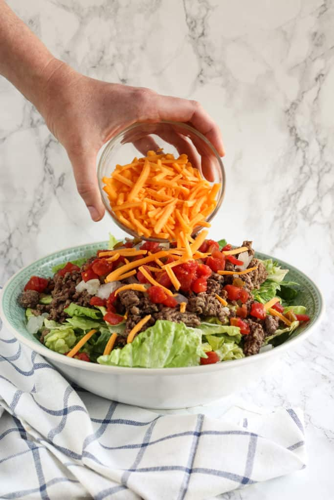 easy cheeseburger salad
