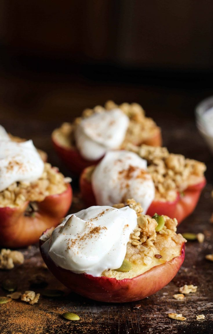 Baked Apples with Spiced Granola