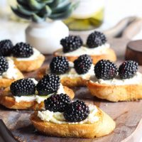 Goat Cheese Crostini Appetizer