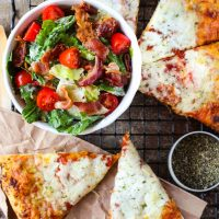 Easy BLT Salad + Pizza Night Dinner