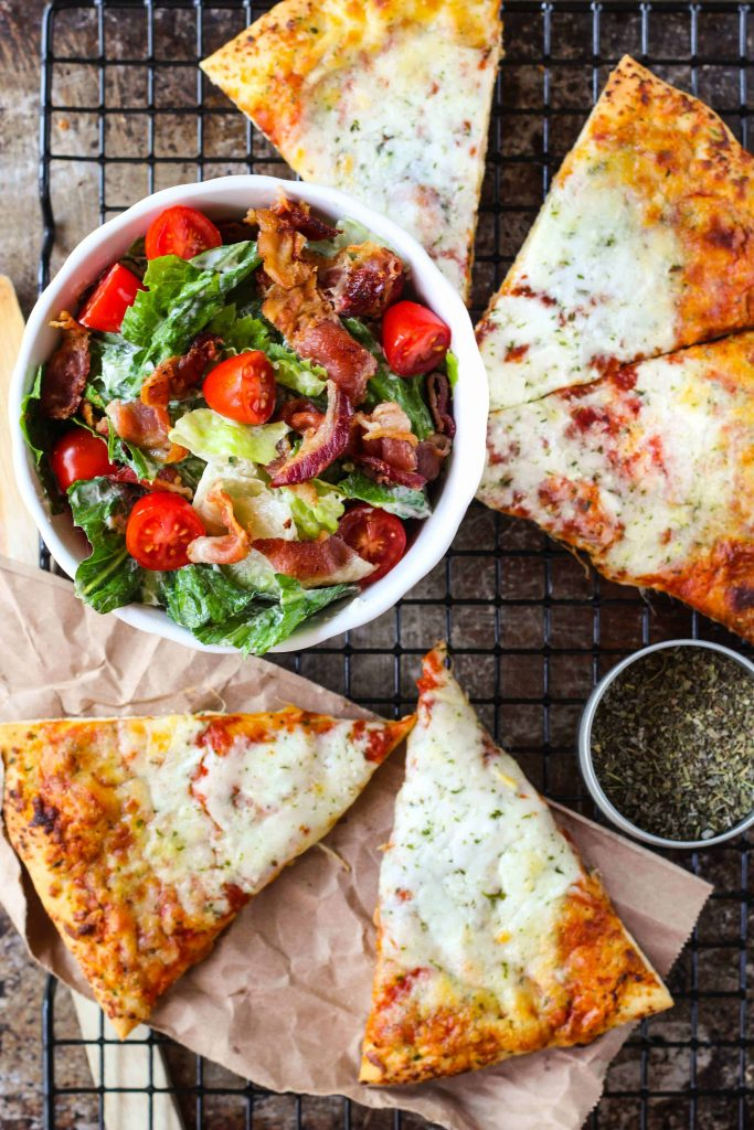 Easy BLT Salad + Pizza Night Dinner - Life a Little Brighter