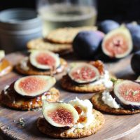 Simple Whipped Goat Cheese + Fig Appetizer