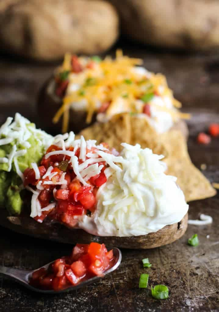 loaded baked potato bar