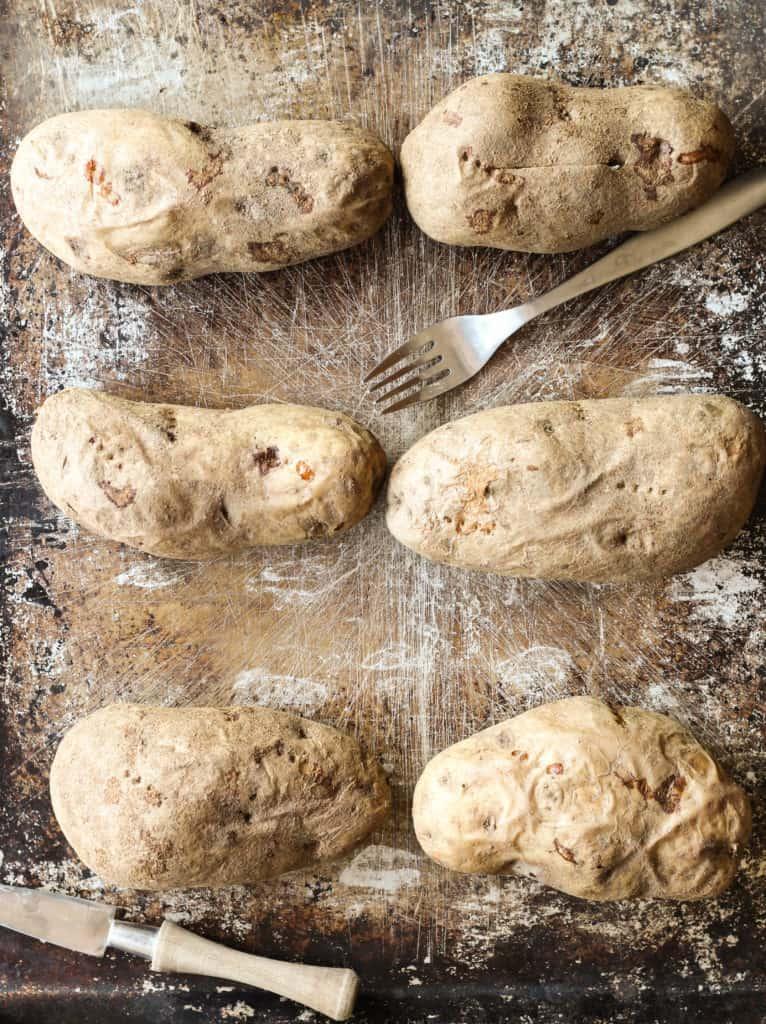 loaded baked potato bar