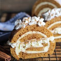 Cheesecake-Stuffed Pumpkin Roll