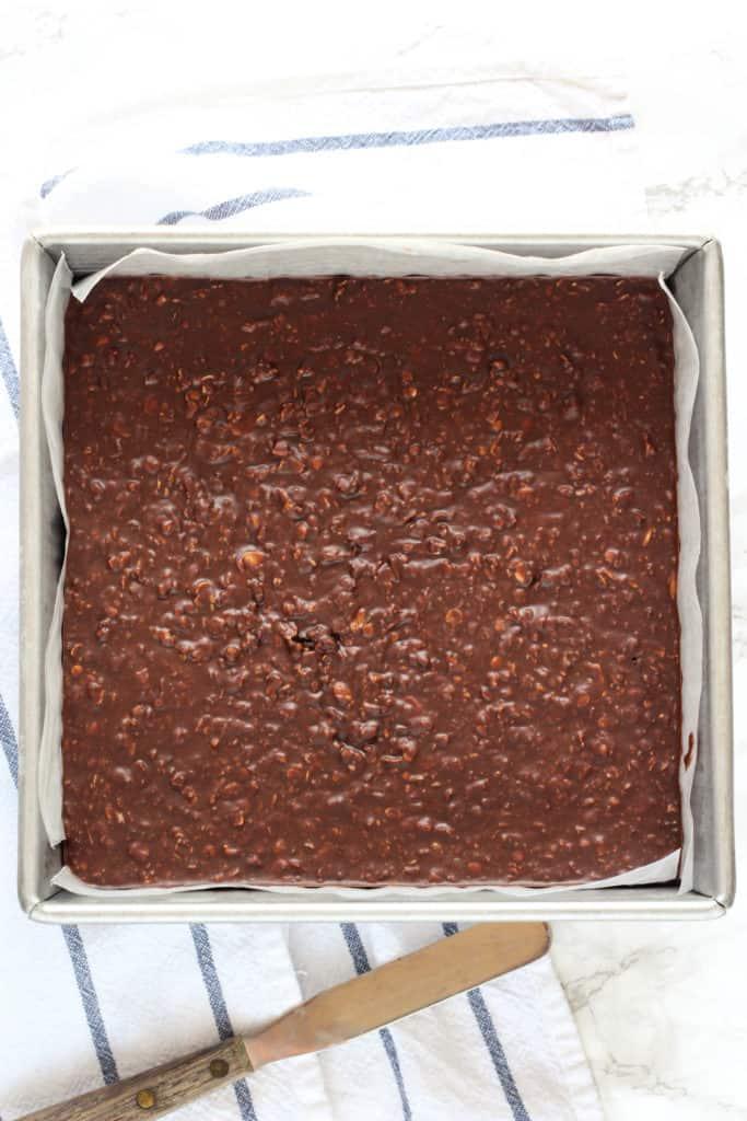 chocolate no-bake breakfast bars