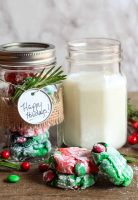Peppermint Christmas Crinkle Cookies with M&M'S® Brand Holiday Milk Chocolate Candies
