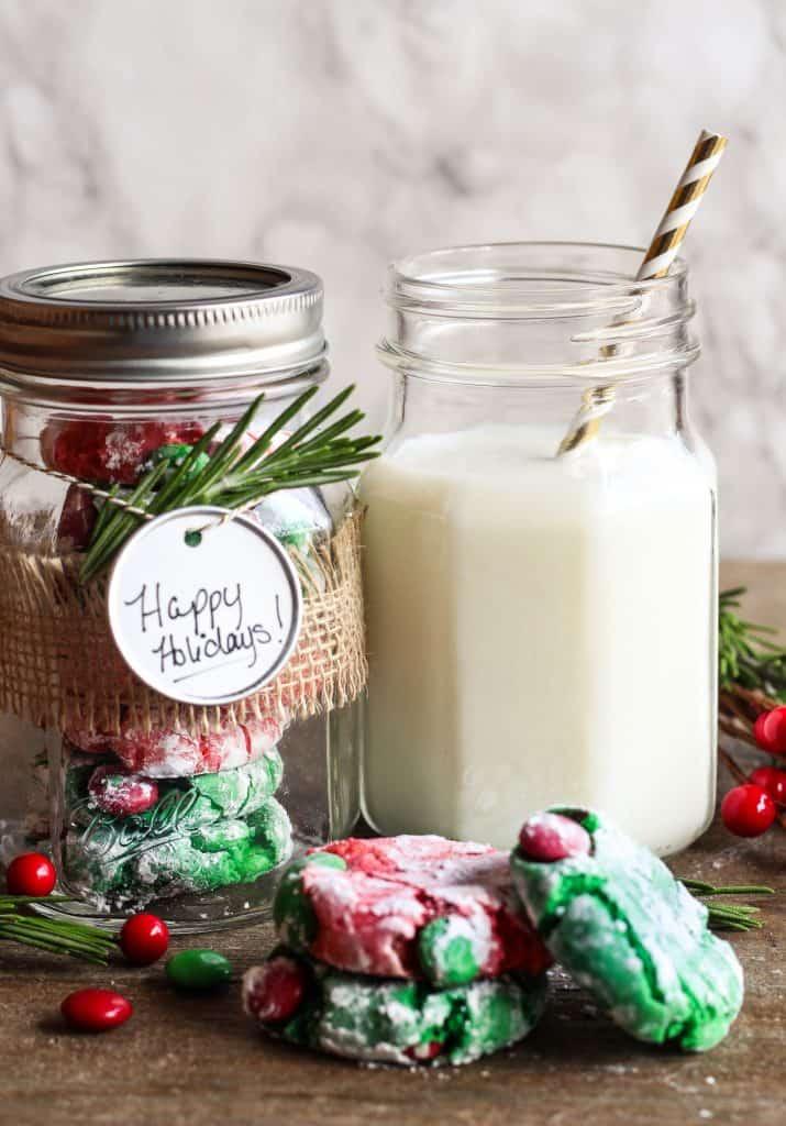 peppermint Christmas crinkle cookies