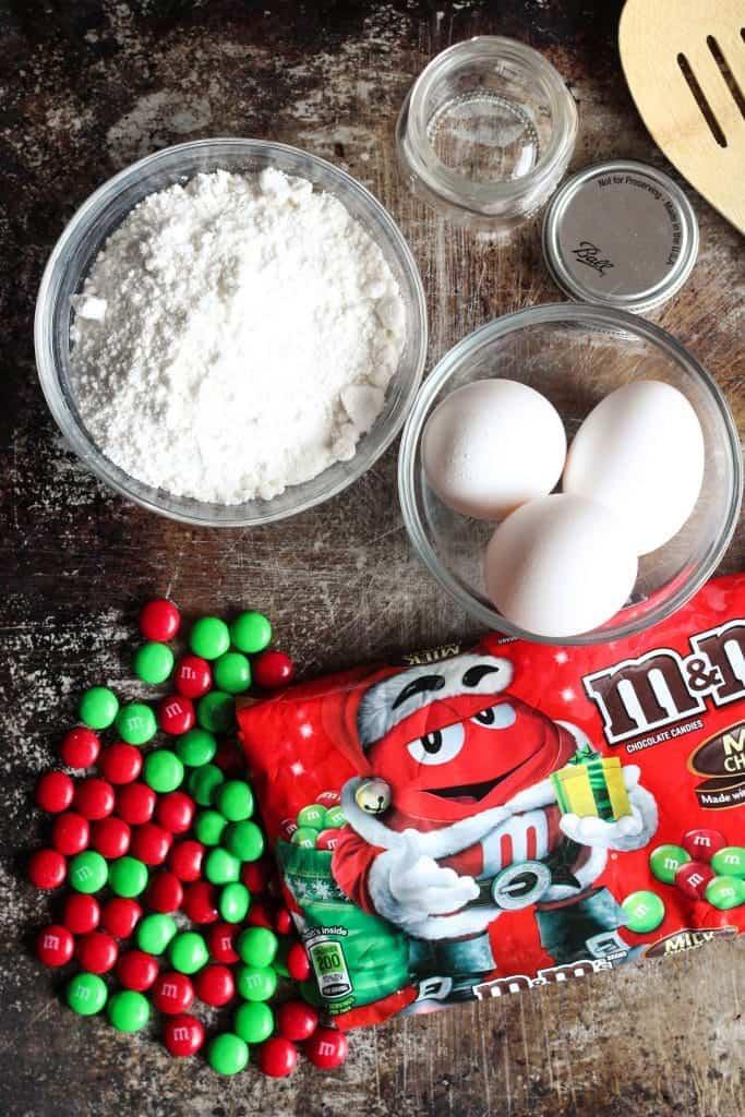 peppermint Christmas crinkle cookies ingredients