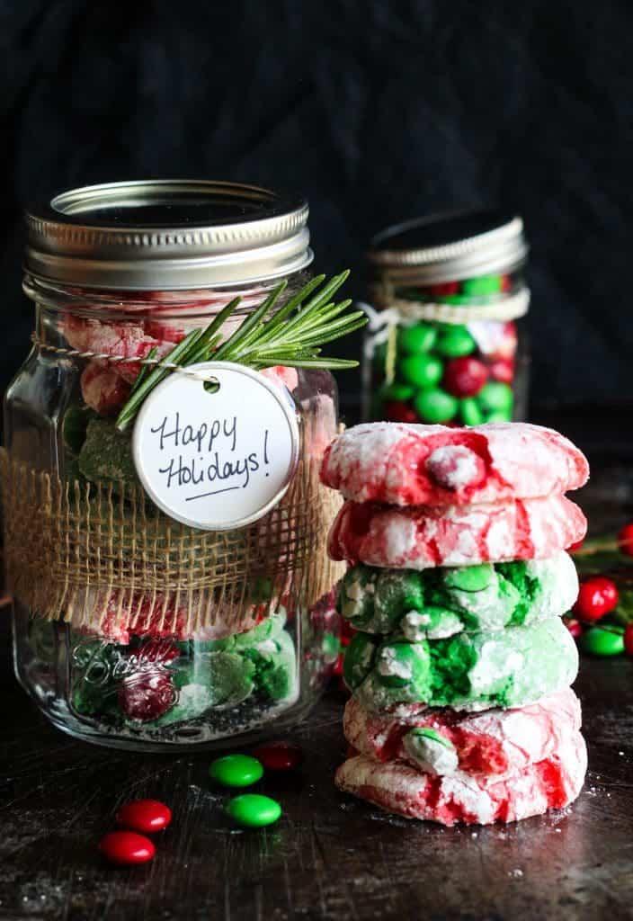 christmas crinkle cookies cake mix
