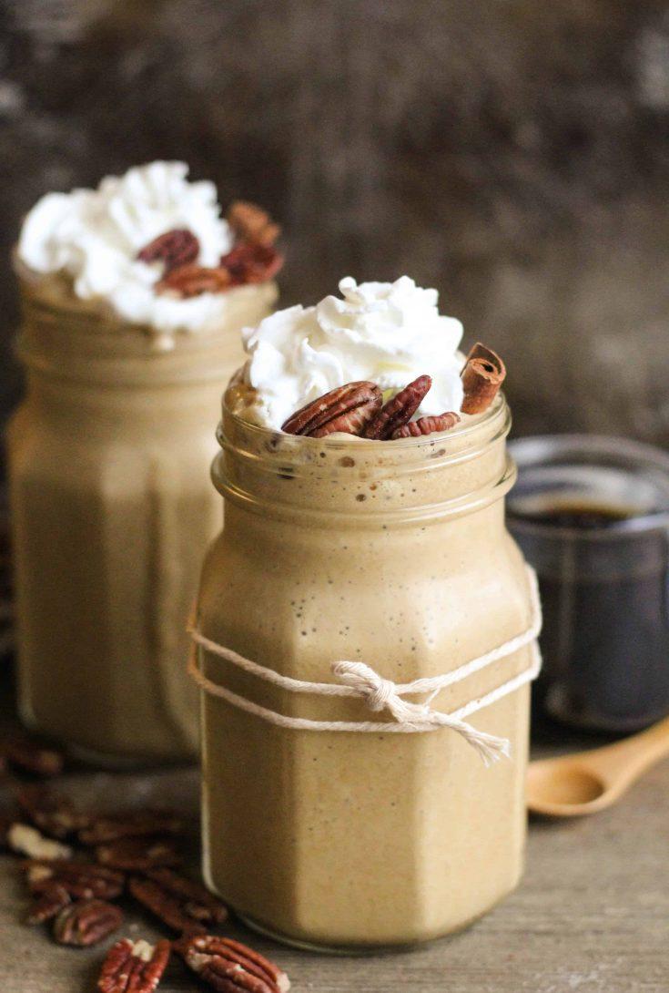 Maple Pecan Frappé Coffee Drink