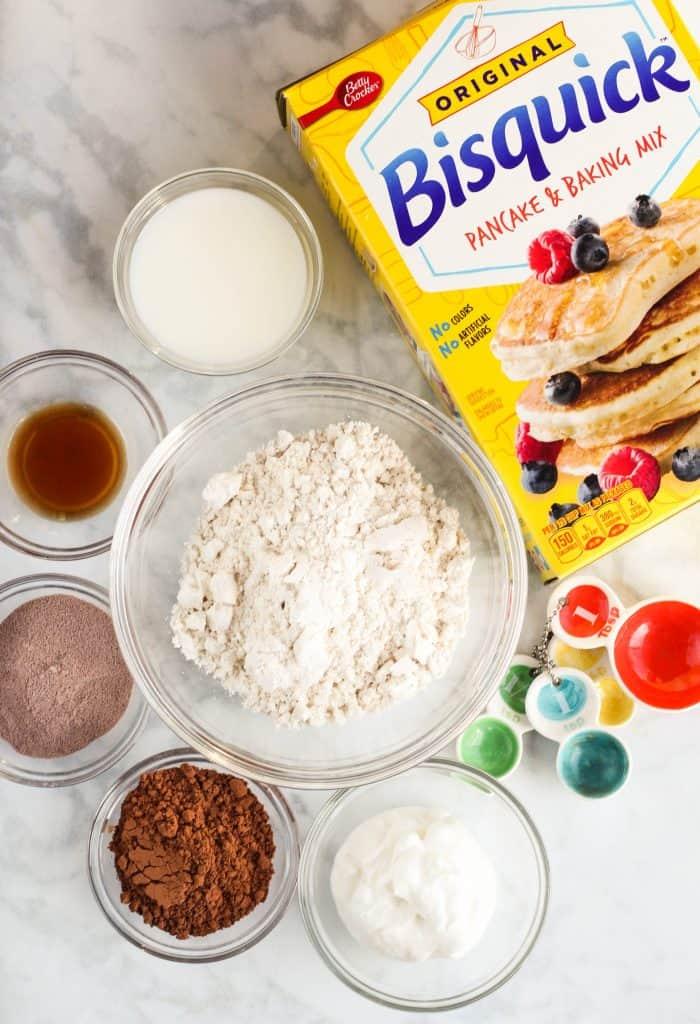 Hot Cocoa Pancakes with Greek Yogurt