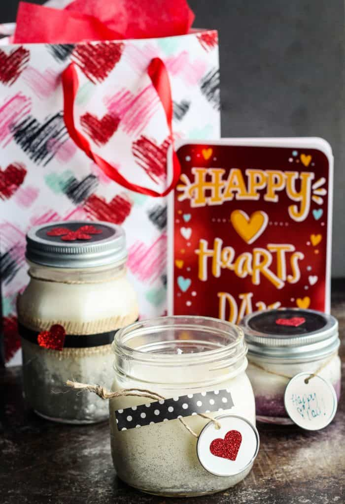 easy diy glitter candles