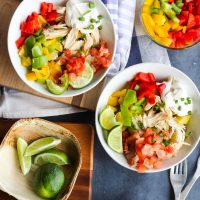 Easy Chicken Fajita Bowls