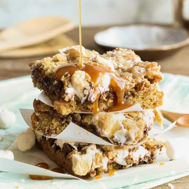 Salted Caramel S'mores Bars