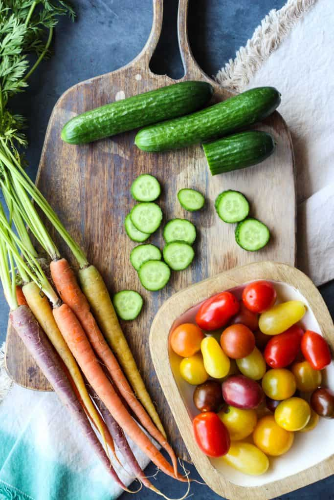 snack board ideas vegetables