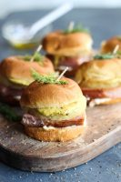 Hawaiian Ham Sliders with Mustard Aioli