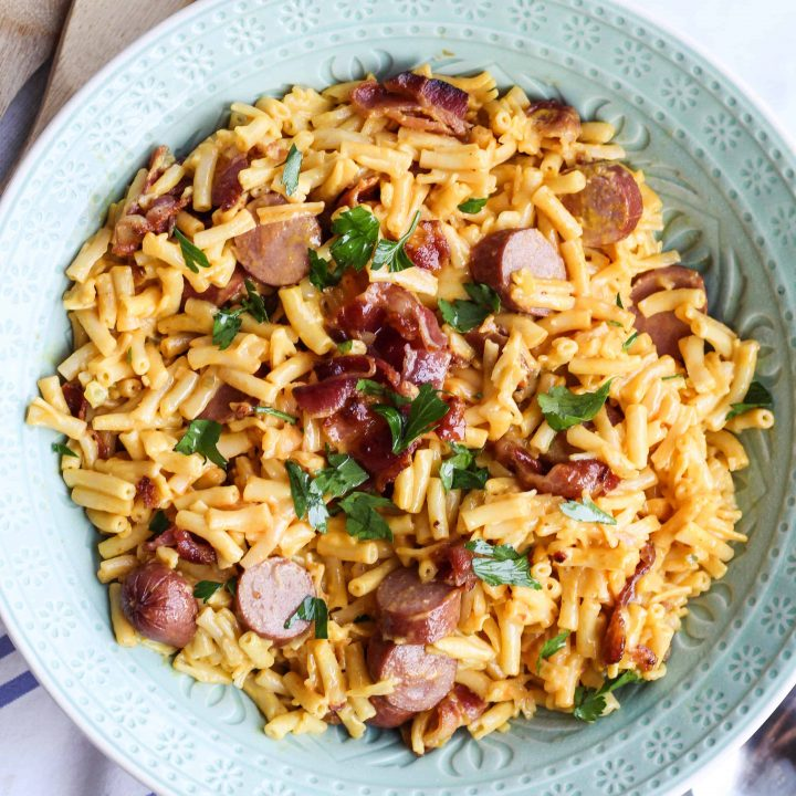 Loaded Macaroni And Hot Dogs