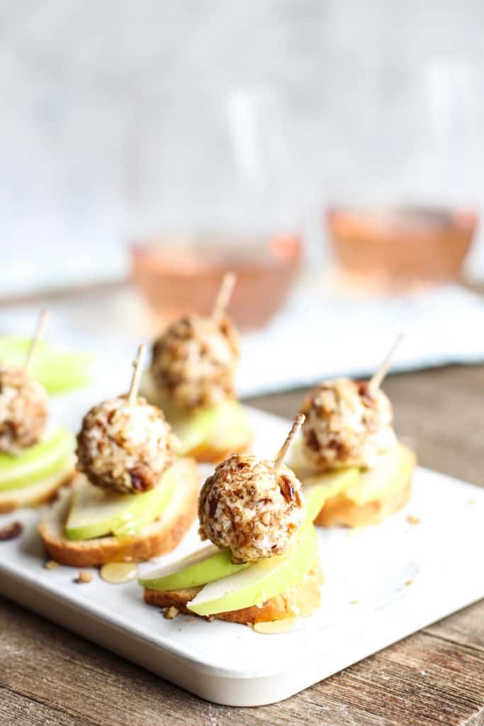 Pecan-Crusted Goat Cheese + Apple appetizer
