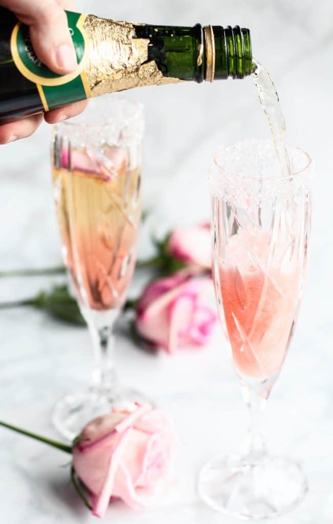 rose bellini mocktail