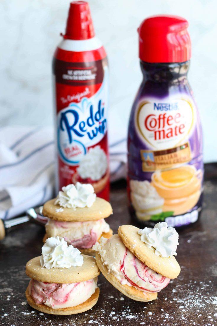 Sweet Cream + Mixed Berry Ice Cream Sandwiches