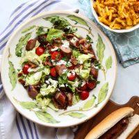 Hot Dog BLT Salad