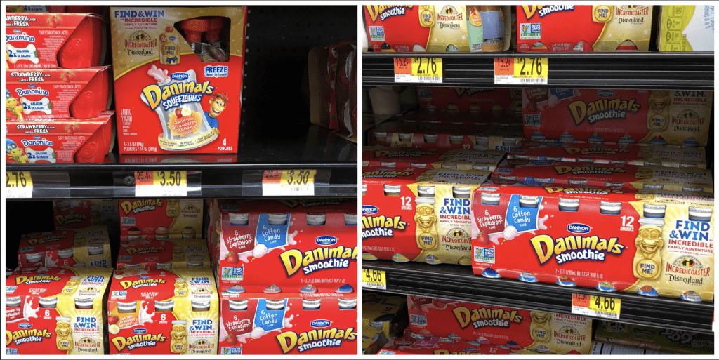Dannon Danimals at Walmart