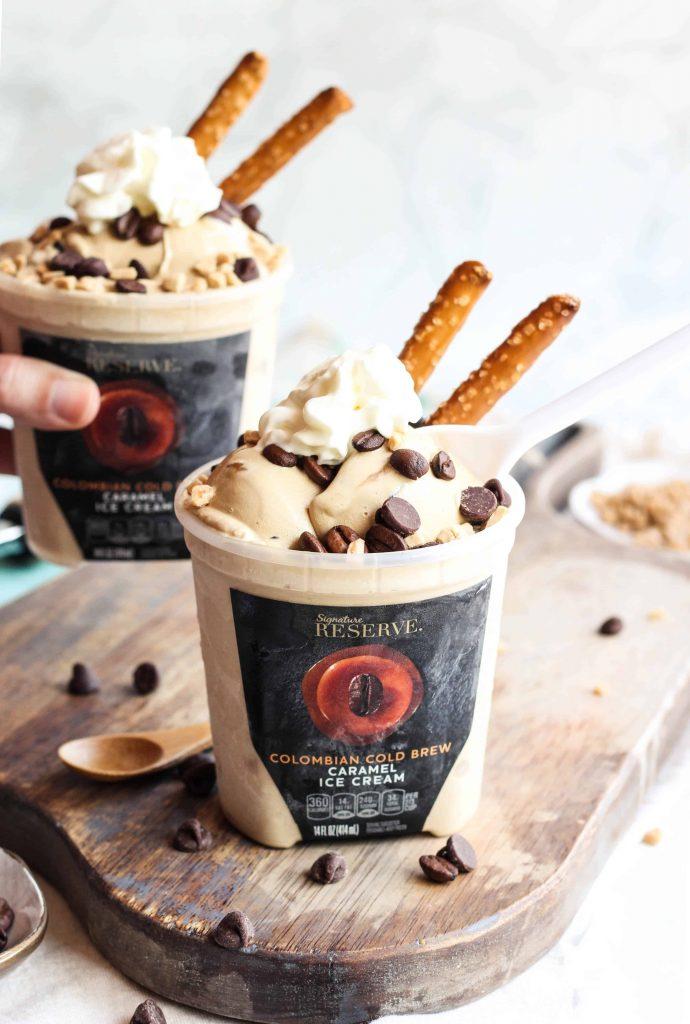 Cold Brew Coffee Caramel Ice Cream Sundae