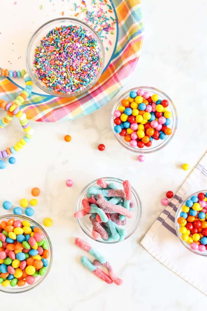rainbow sprinkles and fun candy