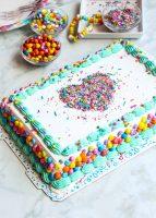 Easy Sprinkle Stencil Cake