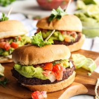 Mexican Guacamole Burger Sliders
