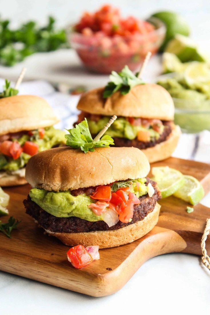 Mexican Guacamole Burger Sliders