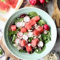 Watermelon Radish Feta Salad Recipe