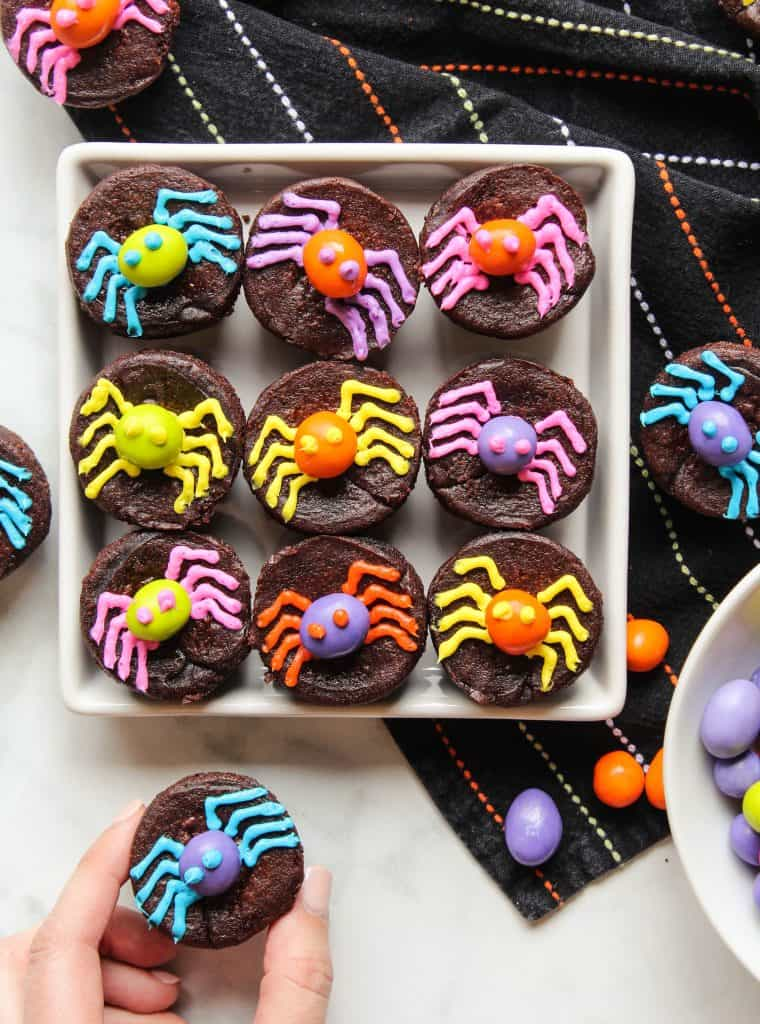 Halloween Brownies with M&M's® Spiders