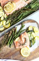 Sheet Pan Salmon with Zucchini and Lemon (featuring Alaska salmon)