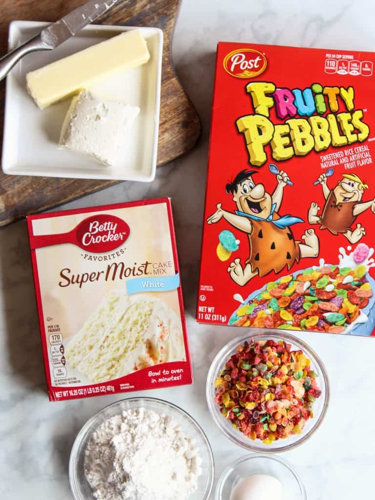Fruity Pebbles cake mix cookies