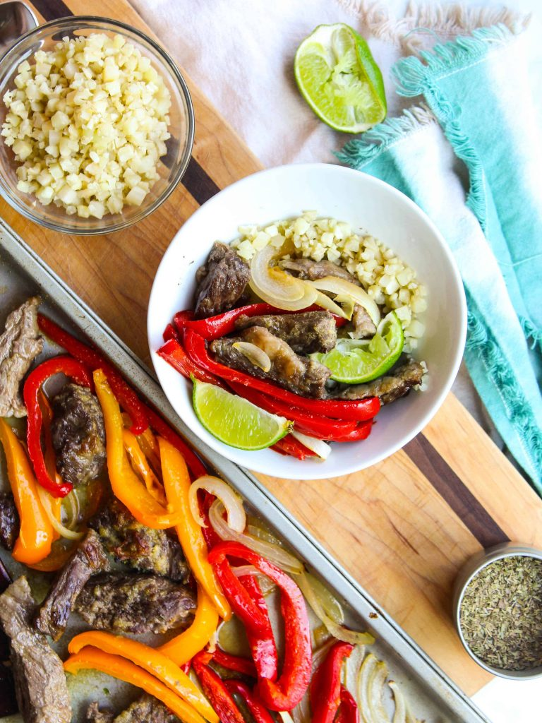 Steak Fajita Bowl with toppings