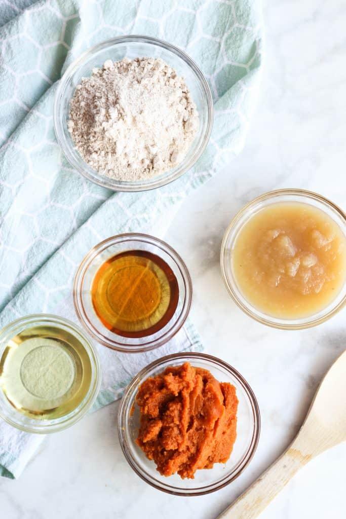 Pumpkin Muffins ingredients