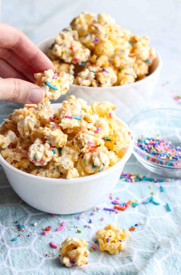 Birthday Cake Batter Popcorn Recipe