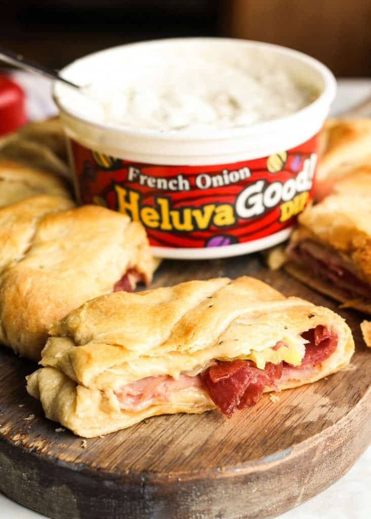 Heluva Good dip with sandwich
