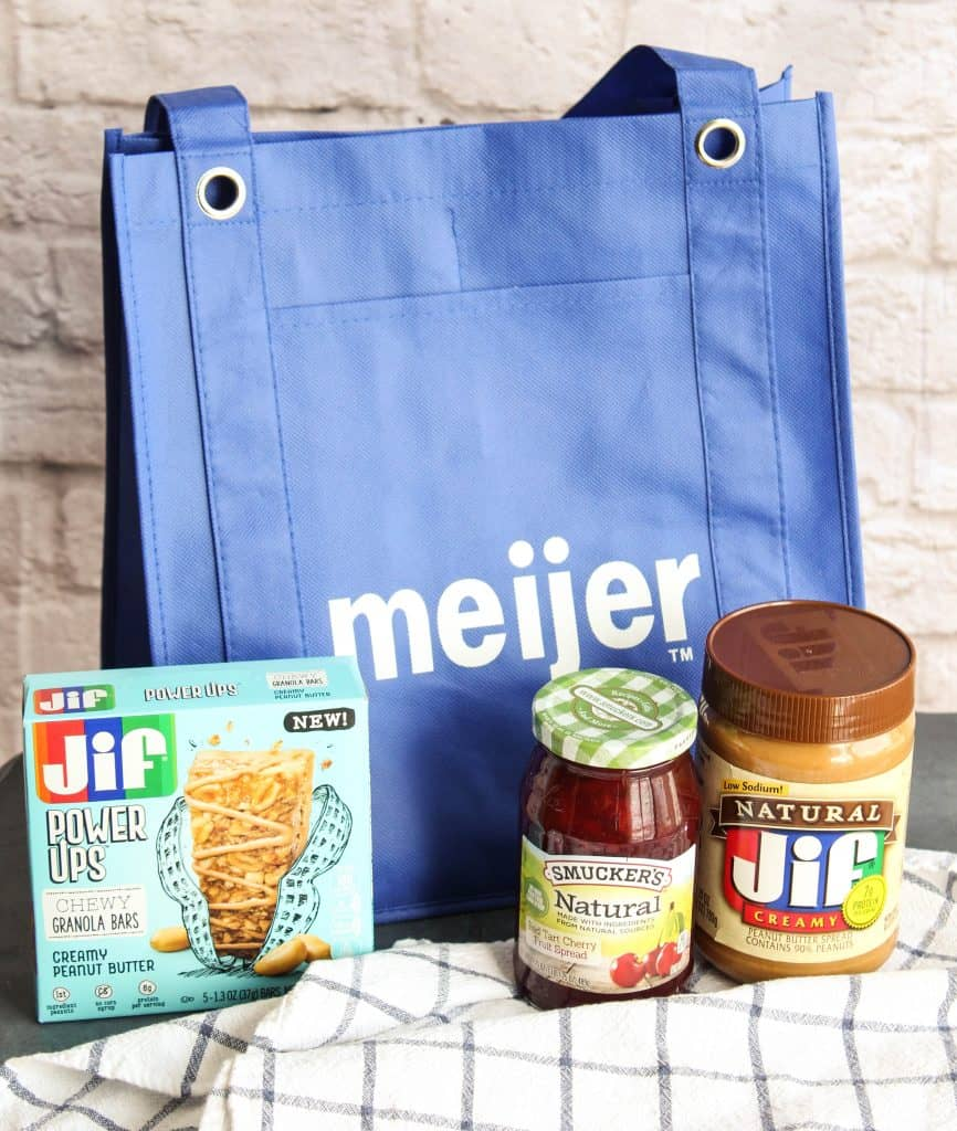 Walmart bag with Jif products