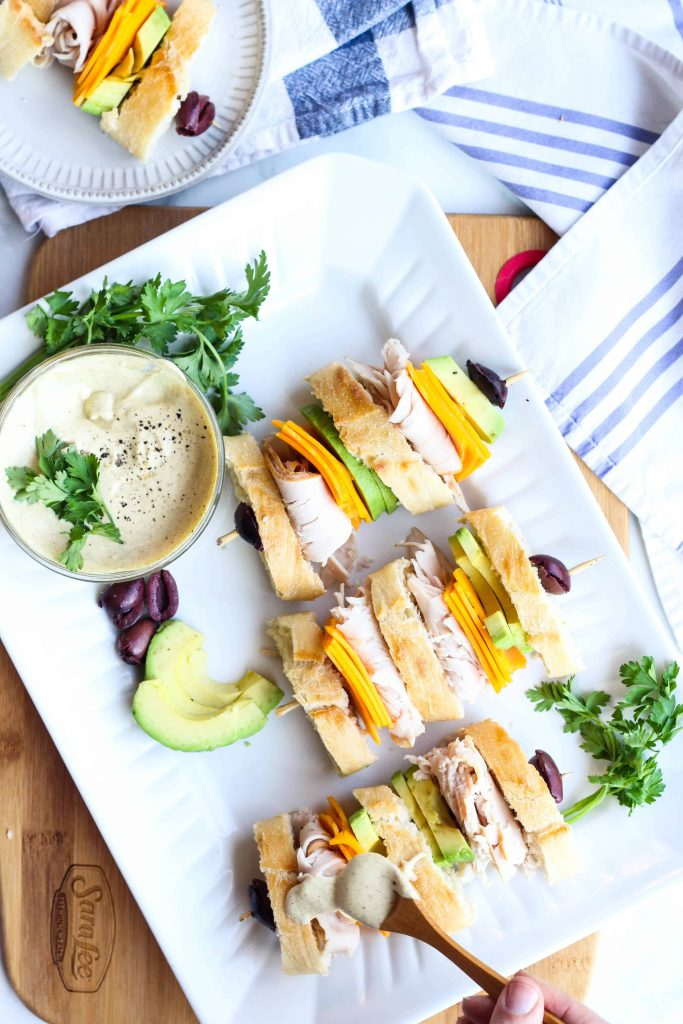 California Club Sandwich with mustard aioli