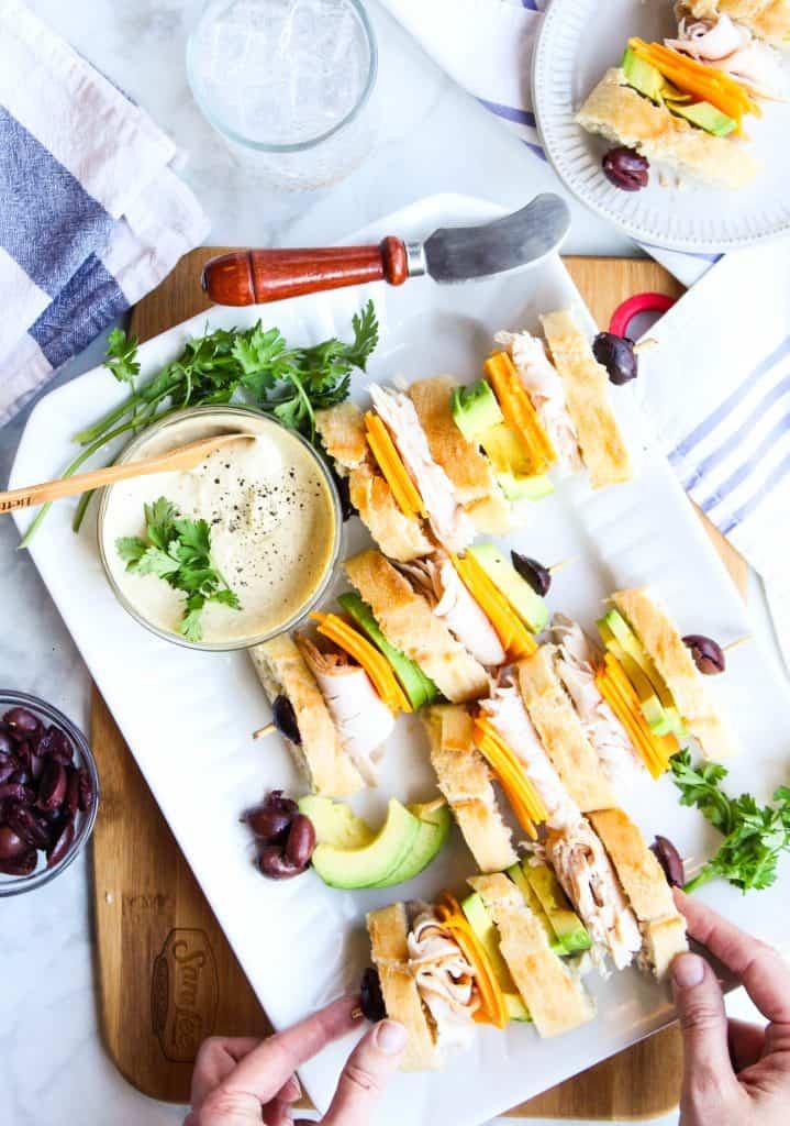 California Club Sandwiches with mustard aioli