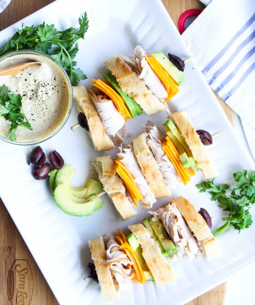 California Club Sandwich on a platter