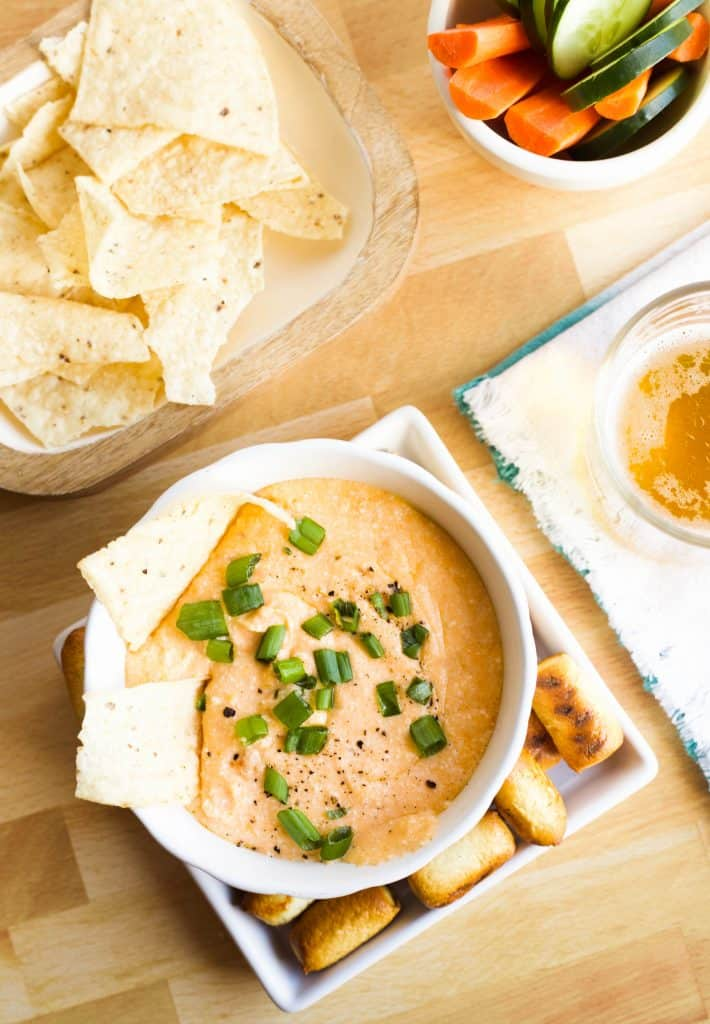 easy cheese dip in a bowl